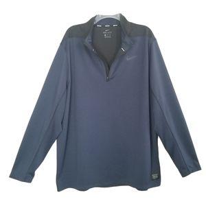 Nike Golf Dri-fit 1/4 Zip Pullover Blue Black XXL